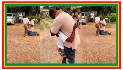 SHS Girl Silence Her Friends As Boyfriend Propose To Her After Wassce