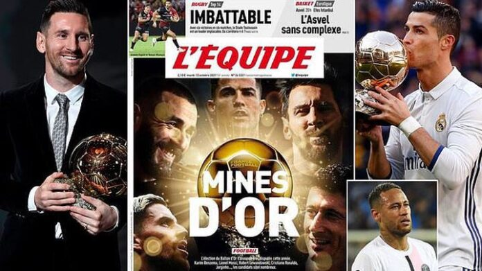 L'Equipe Predict 5 Players Likely To Win The Ballon d'Or